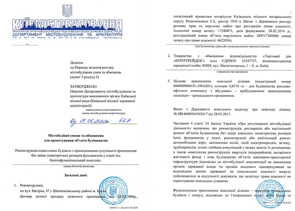 Будущий проект по ул. Нагорная, 47 Градостроительные условия и ограничения