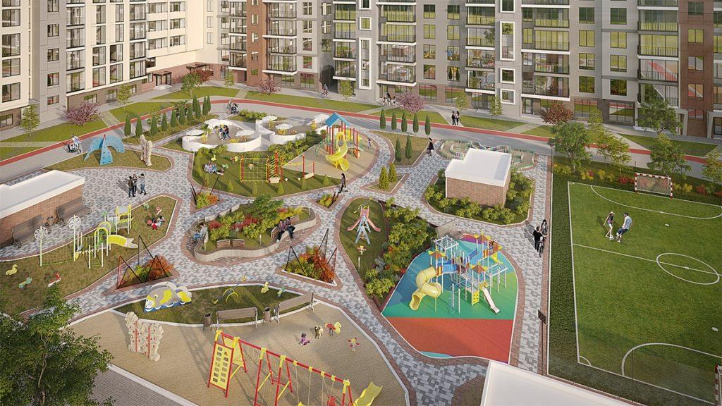 Обзор ЖК Велспринг от Edelburg Development внутренняя территория