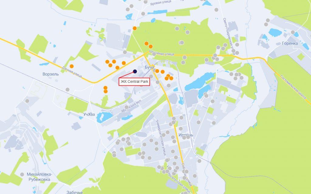 ЖК Central Park на карте