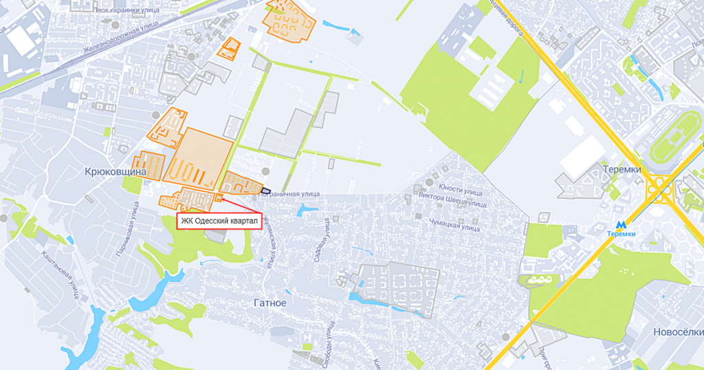 ЖК Одесский квартал на карте