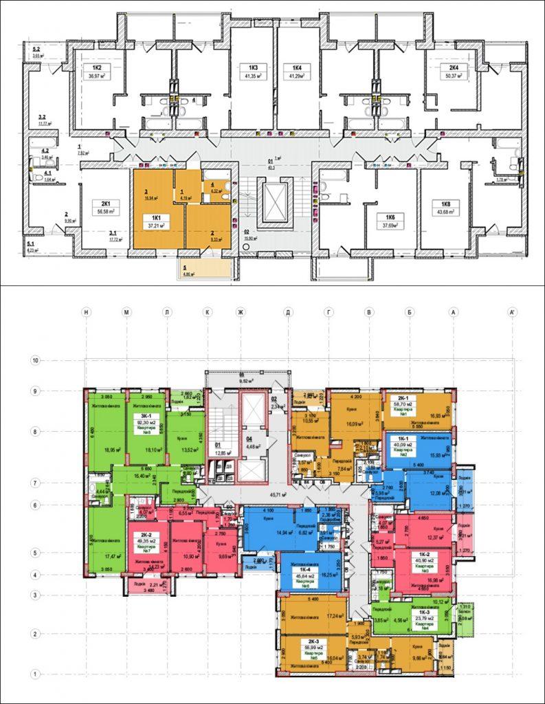 ЖК Вышгород Сити Парк план этажа