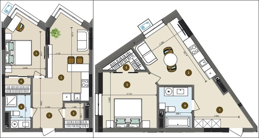 ЖК Chalet пример однокомнатной квартиры