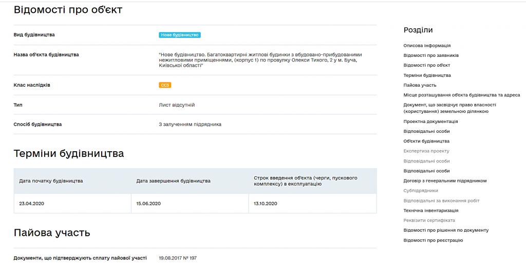 ЖК Континент сертификат о готовности