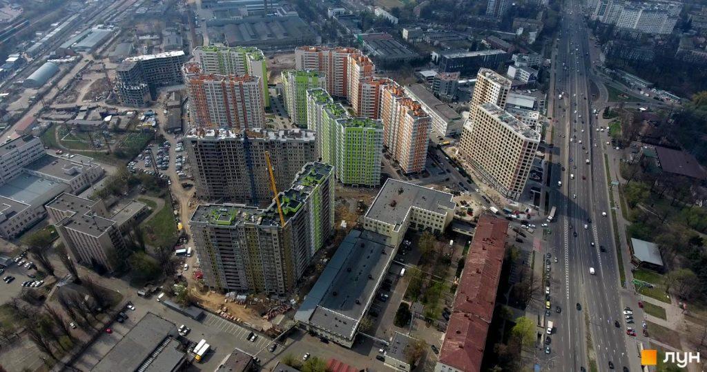 ЖК Нивки-Парк вид с высоты птичьего полета
