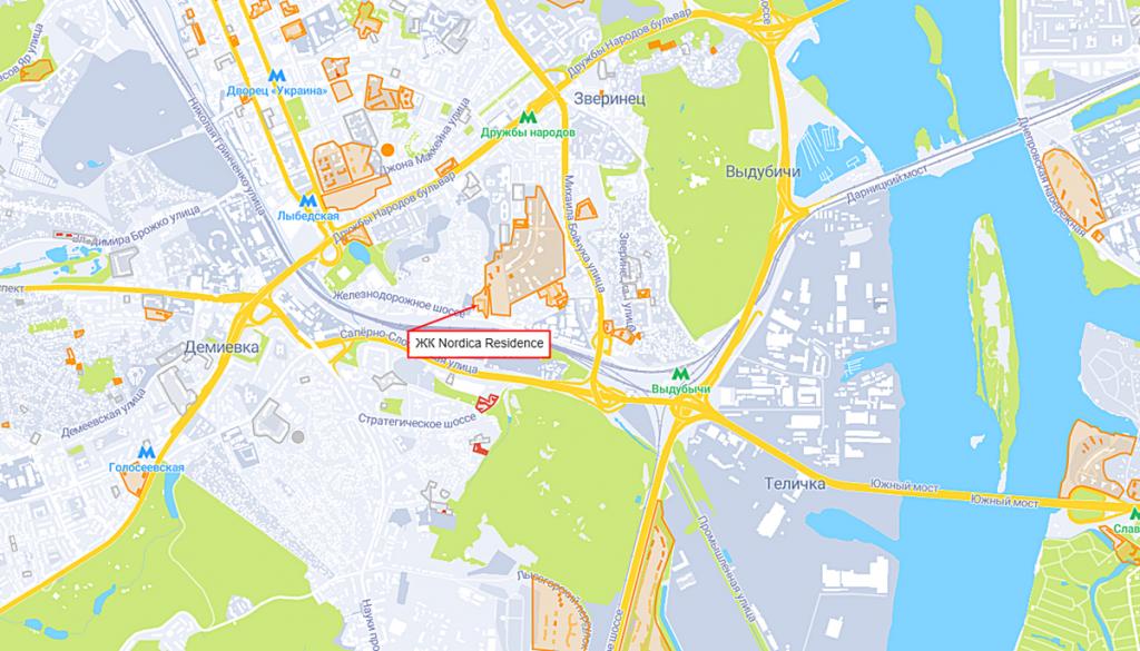 ЖК Nordica Residence на карте