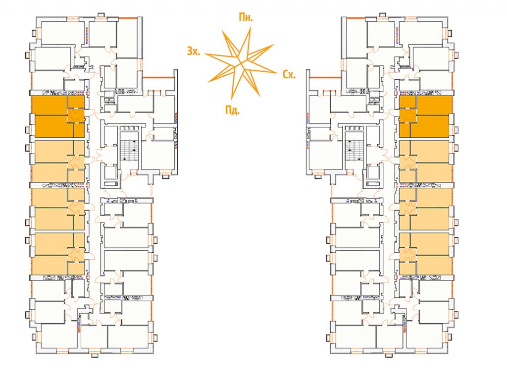 ЖК Континент план этажа