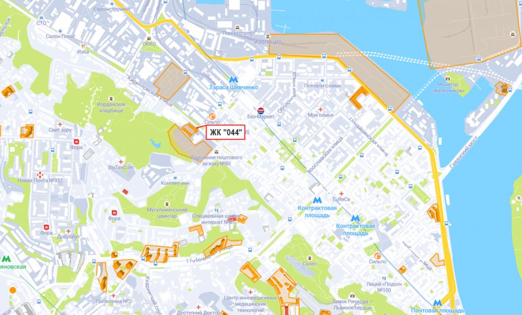 ЖК 044 на карте