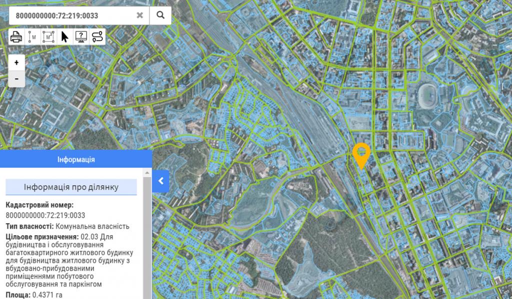 Проект по ул. Малевича, 32 данные кадастра