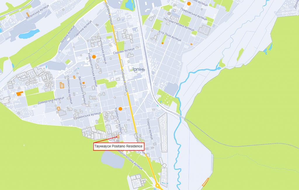 Таунхаусы Positano Residence на карте