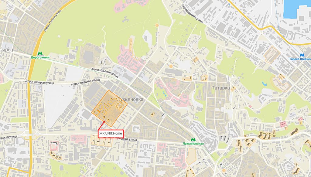 ЖК UNIT.Home на карте