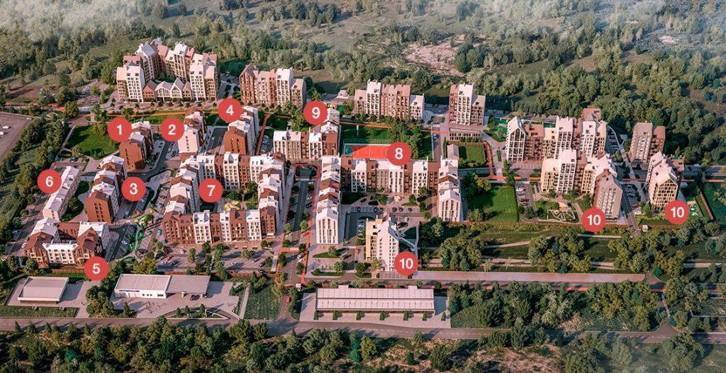 ЖК Белый шоколад Центр в Белогородке генплан проекта 2019