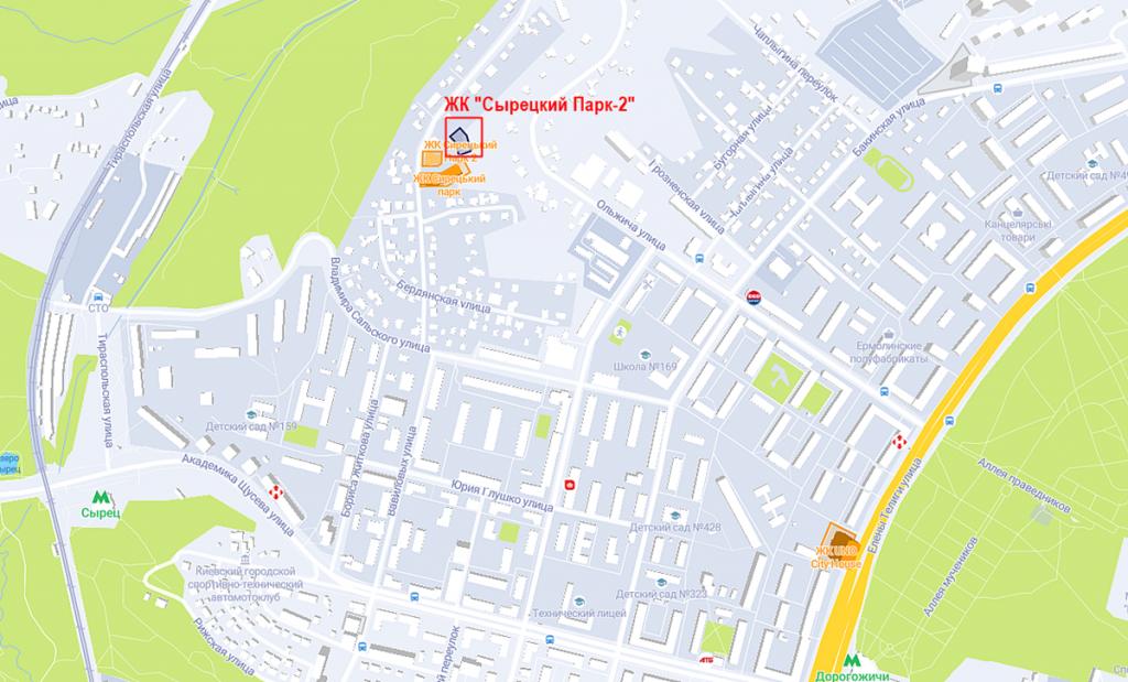 ЖК Сырецкий Парк-2 на карте