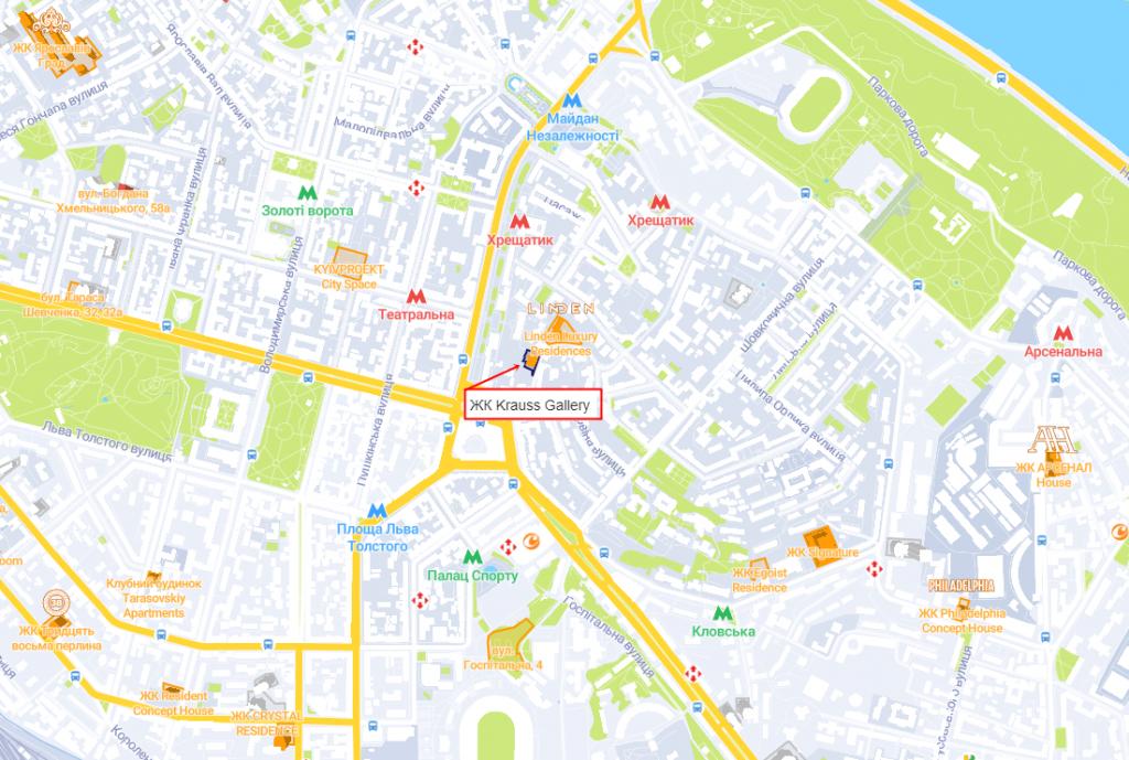 ЖК Краус Галери на карте