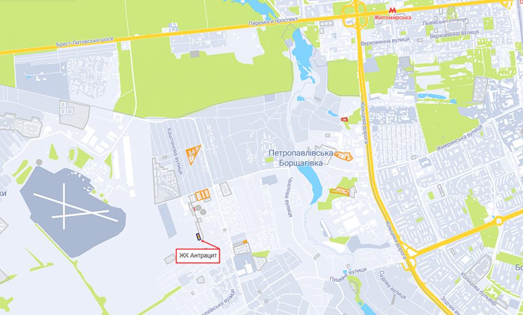 ЖК Антрацит на карте