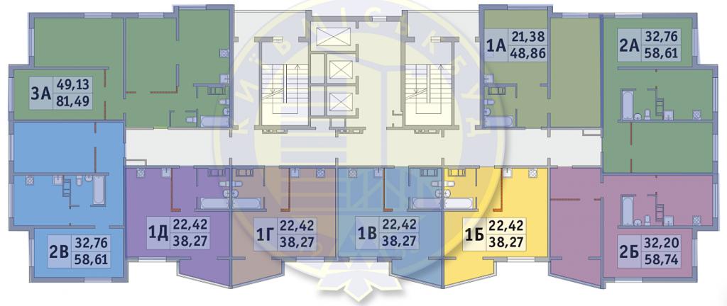 ЖК Милос план этажа