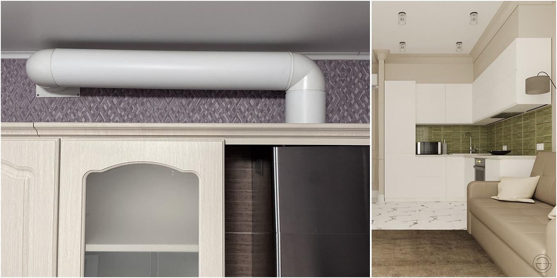 Воздуховод вытяжки на кухне