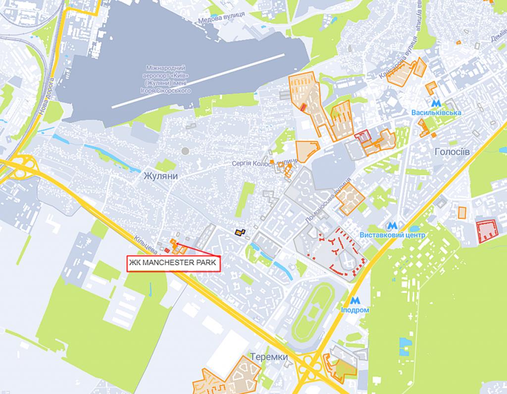 ЖК Манчестер Парк на карте