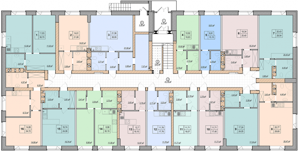 ЖК Манчестер Парк план этажа