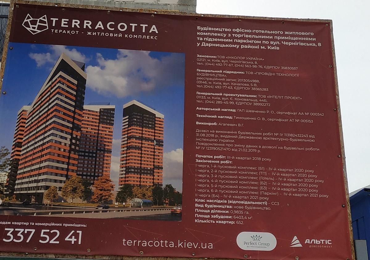 ЖК Terracotta паспорт объекта