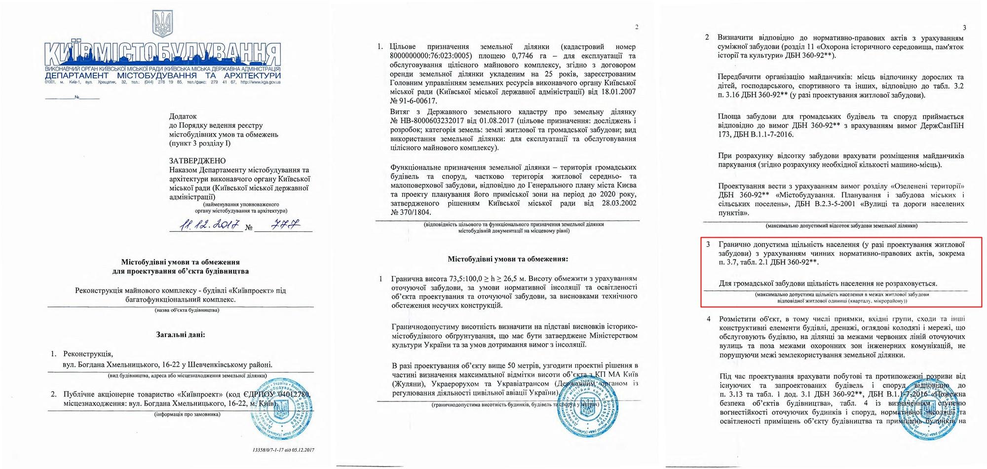 Kievproekt градостроительные условия и ограничения