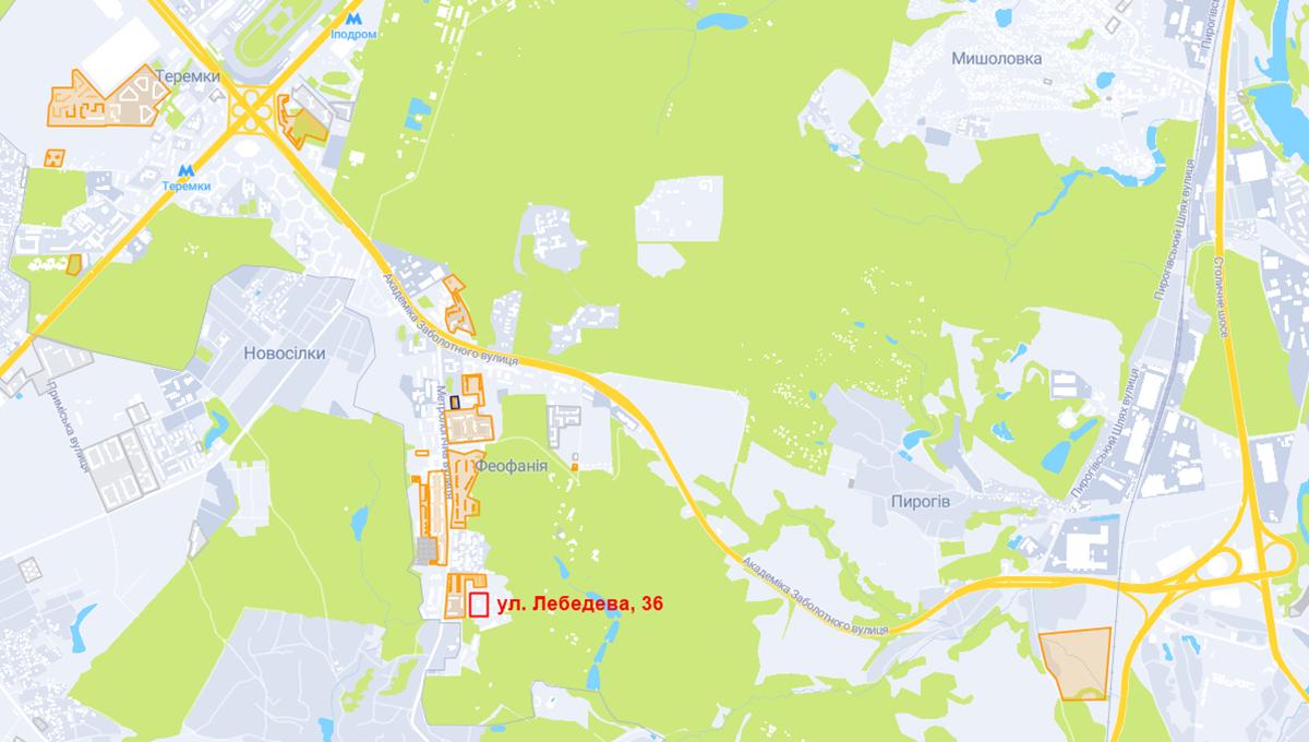 Новая очередь ЖК Кристальные озера по ул. Лебедева на карте