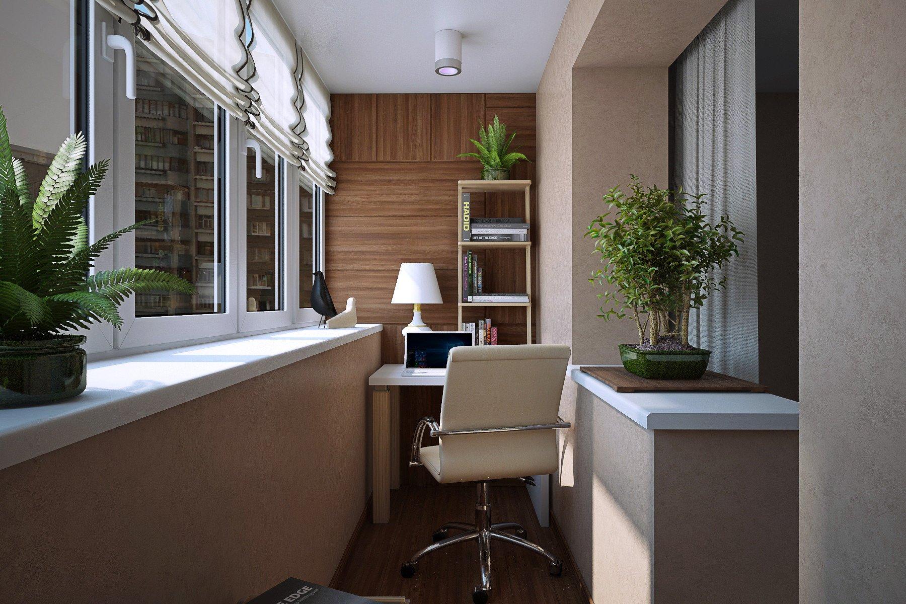 Обустраиваем рабочее место на балконе