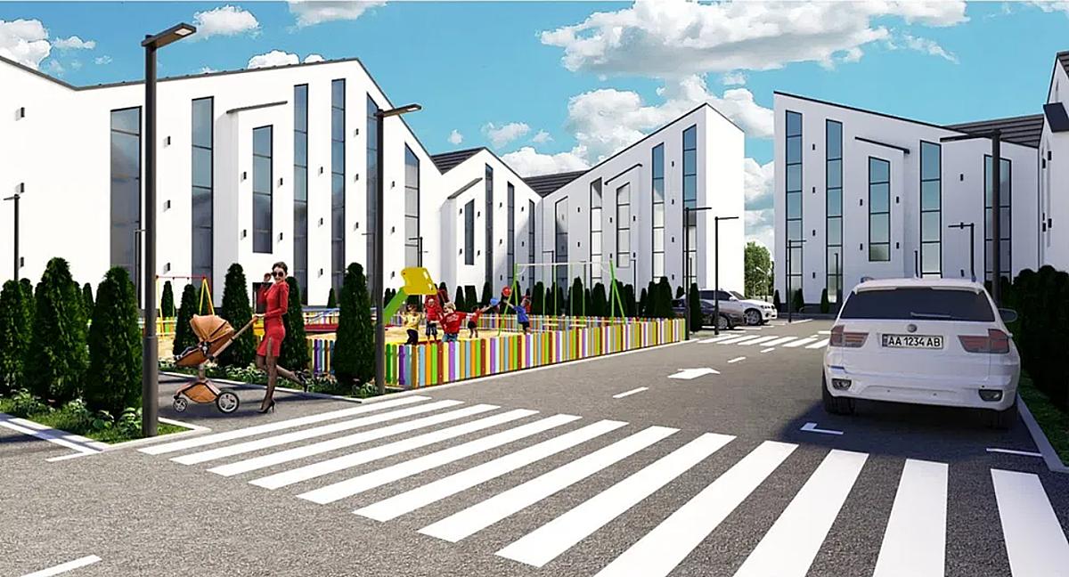 ЖК Аура Центр визуализация придомовой территории