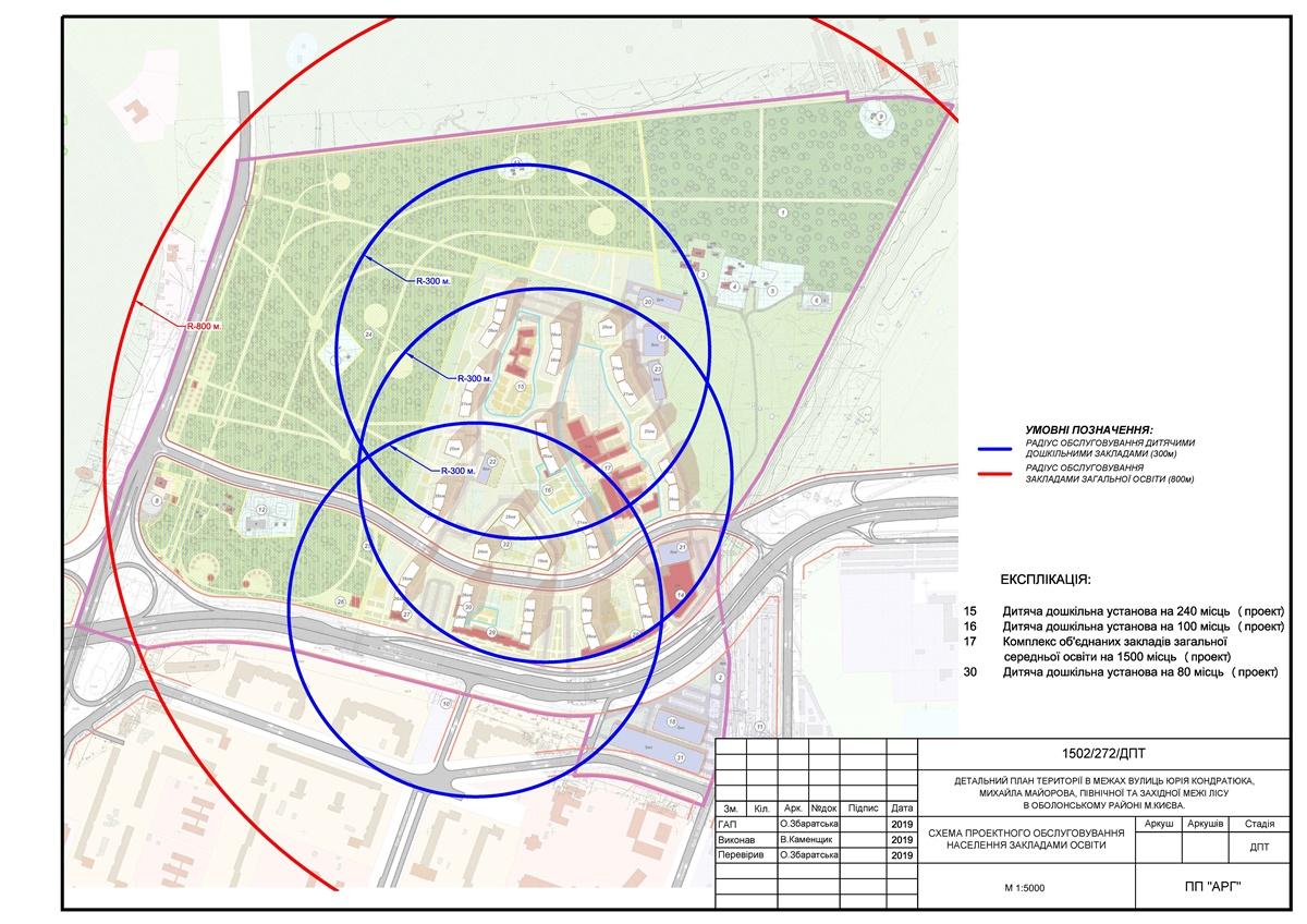 Детальный план территории Минского массива детсад и школа