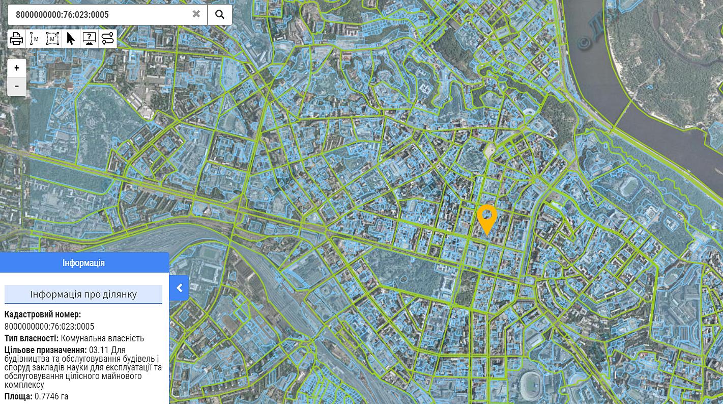 Киевпроект данные кадастра