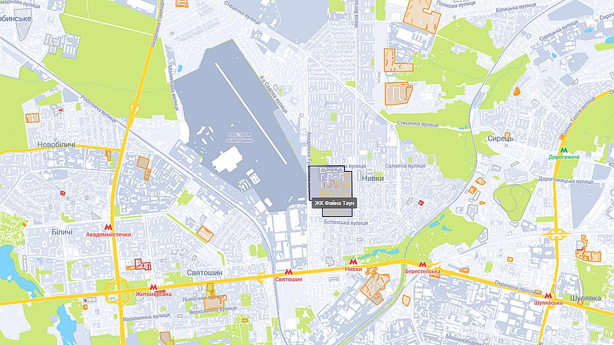 ЖК Файна Таун на карте