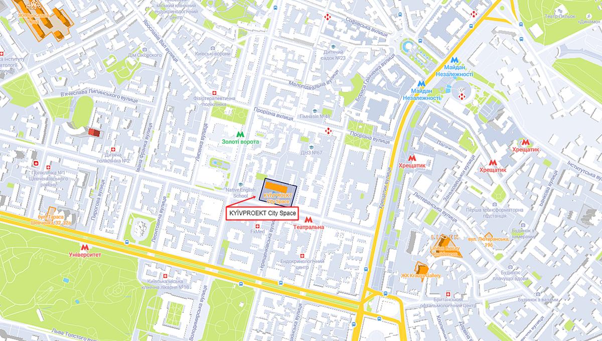 Киевпроект Сити Спейс на карте