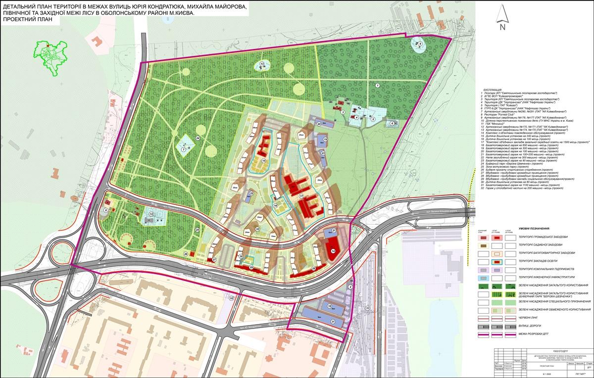 Детальный план территории Минского массива проектный план