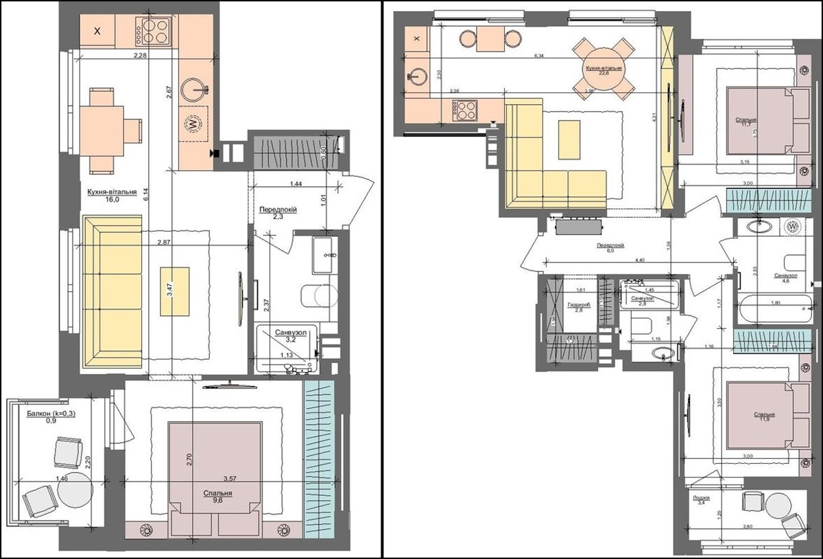 ЖК Файна Таун варианты планировки квартир