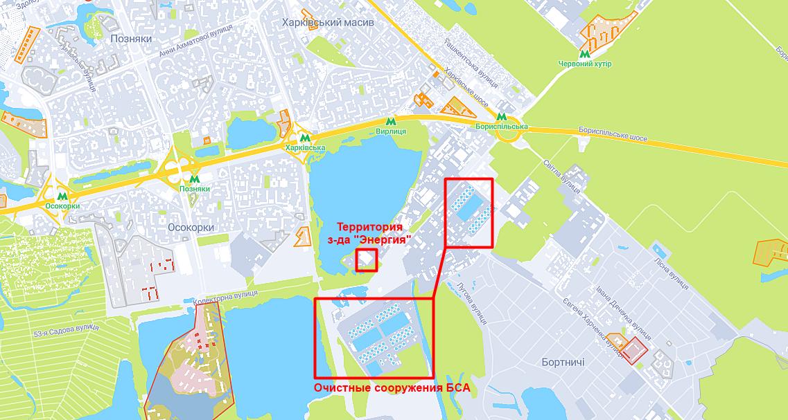 Территория БСА и завода Энергия на карте