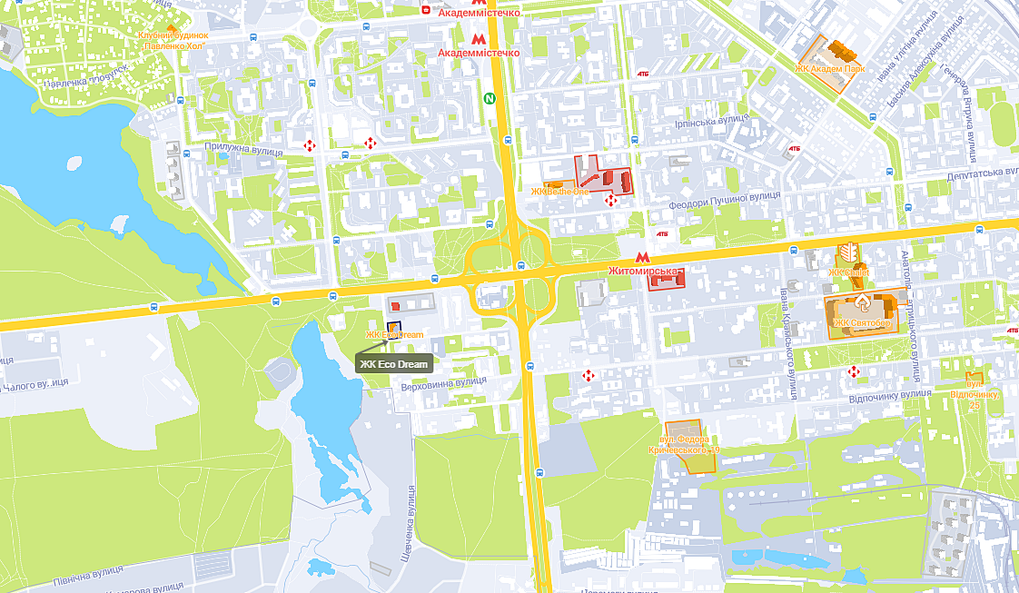 ЖК Эко Дрим на карте