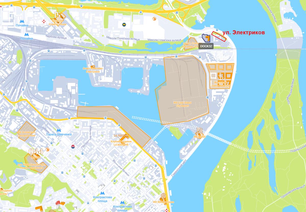 Будущий проект по ул. Электриков на карте