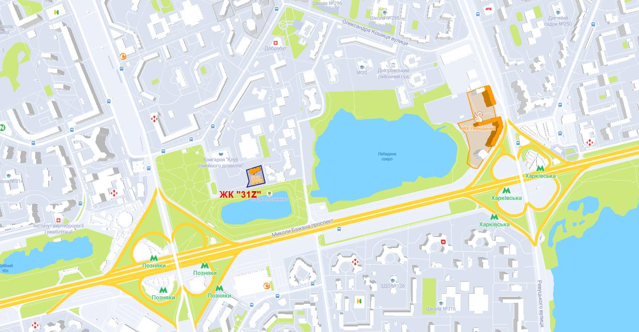 ЖК 31Z на карте