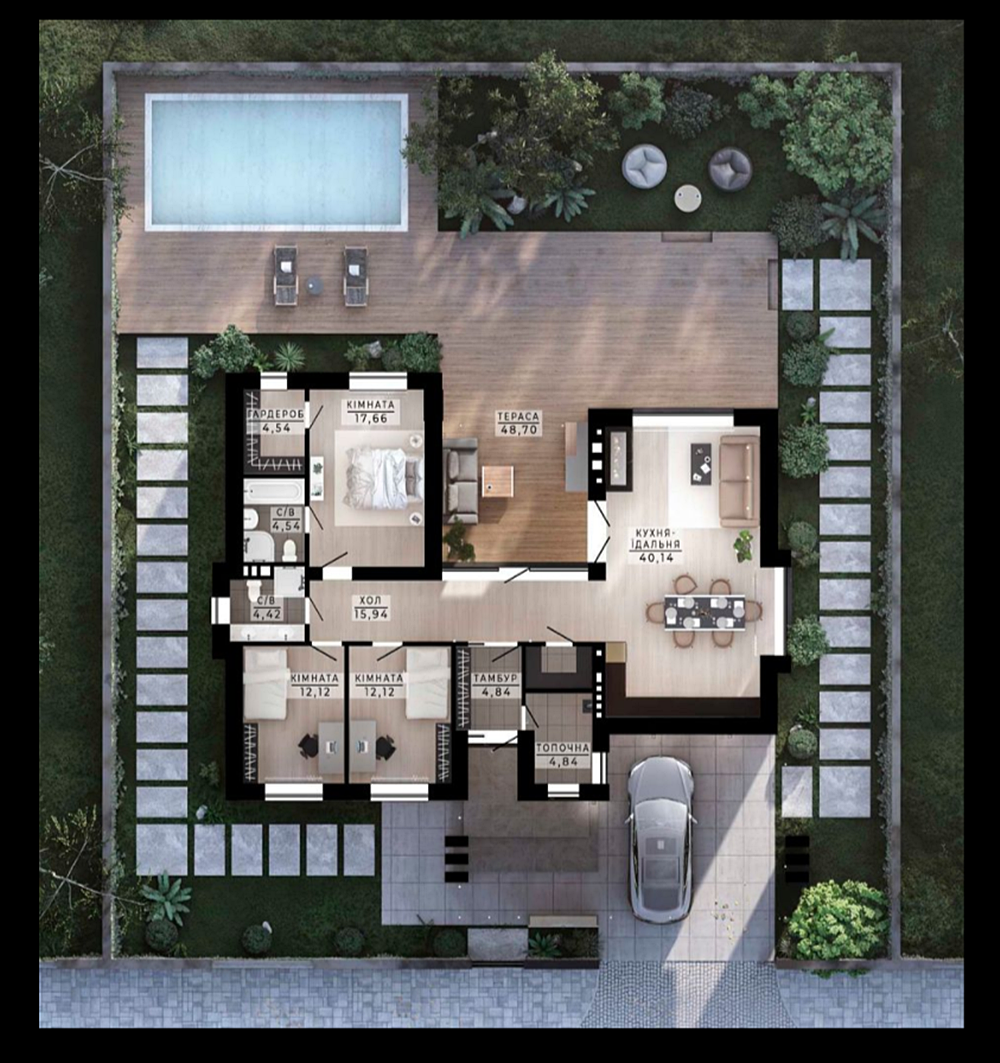 КГ Family Park Residence вариант планировки коттеджа