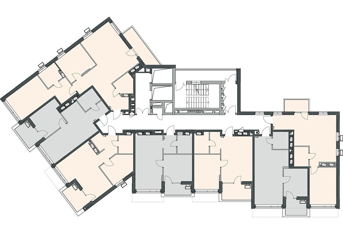 ЖК 31з поэтажный план секции 1