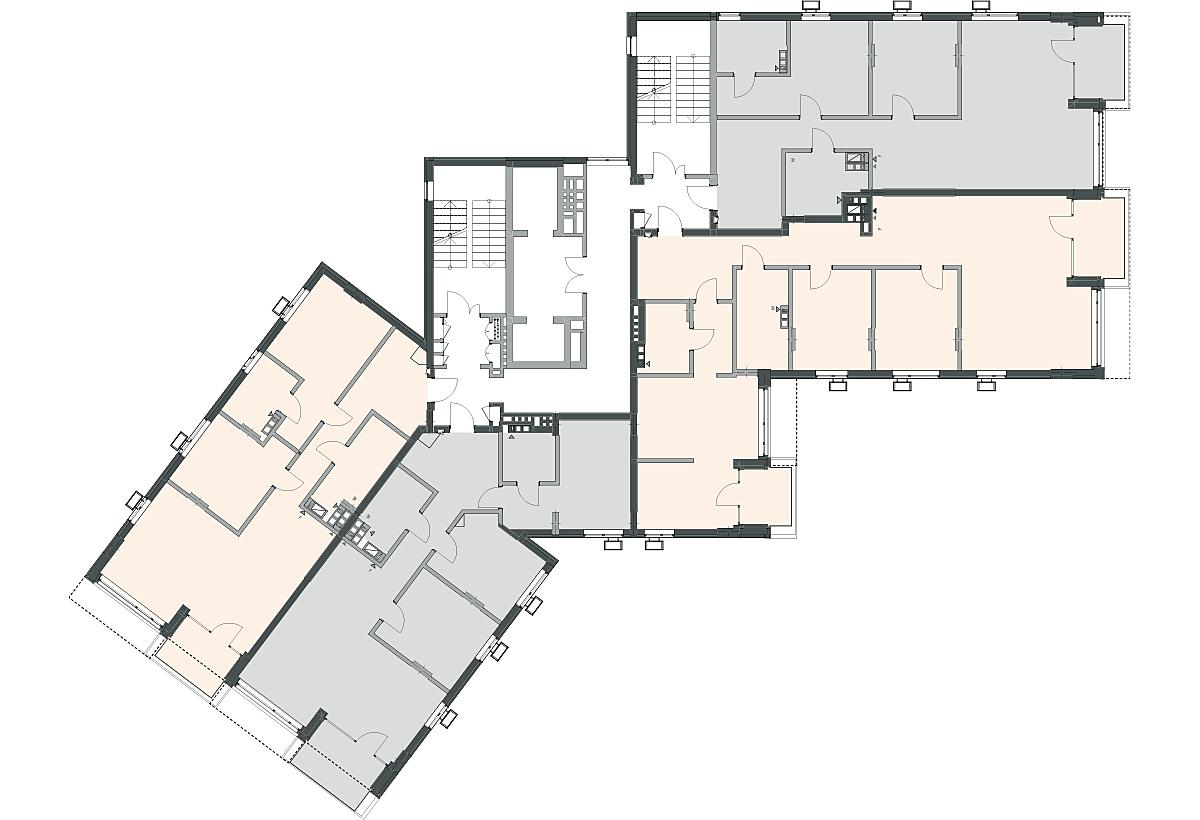 ЖК 31Z поэтажный план секции 2