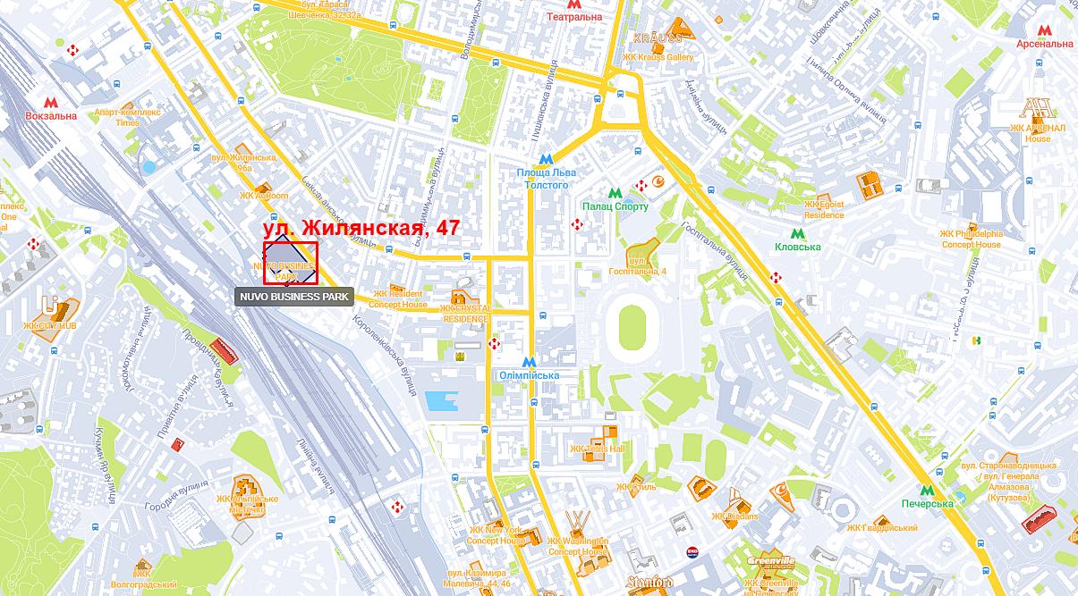 Проект по ул. Жилянская, 47 на карте