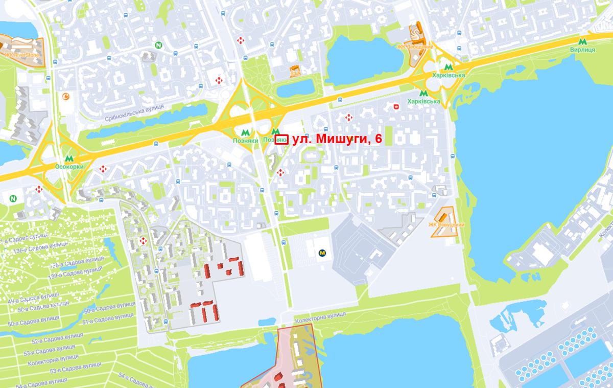 Новый проект по ул. Мишуги, 6 на карте