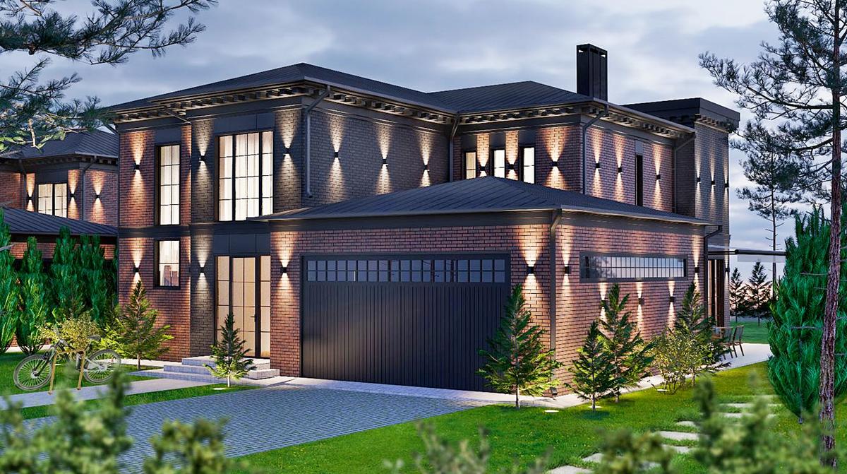 КГ LakeWood-2 визуализация подсветки фасадов
