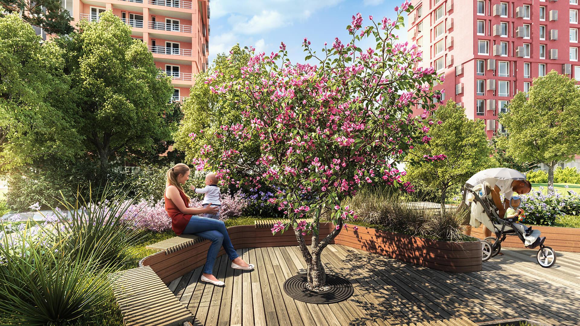 ЖК Свитло Парк визуализация зоны отдыха