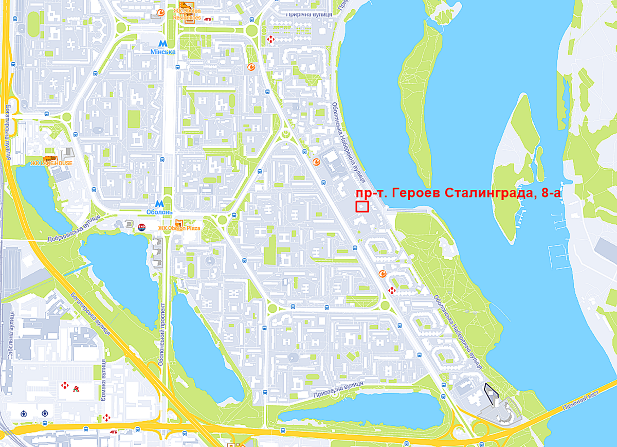 Проект на проспекте Героев Сталинграда, 8а на карте