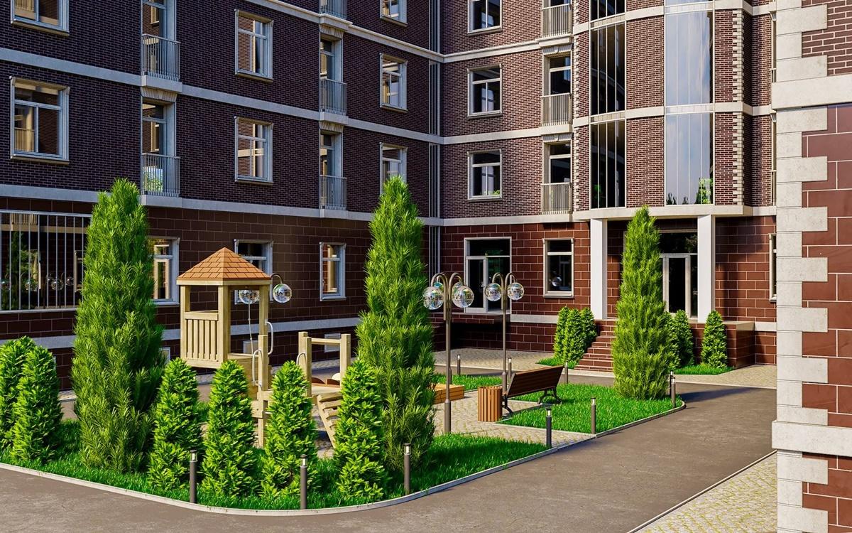 ЖК Лондон Парк визуализация придомовой территории