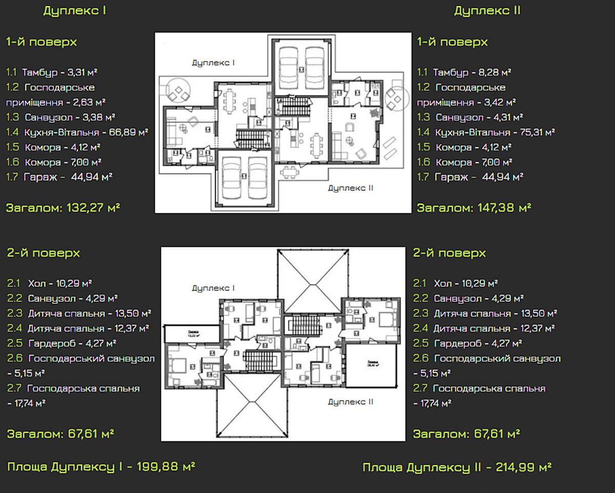 КГ LakeWood-2 планировка дуплексов