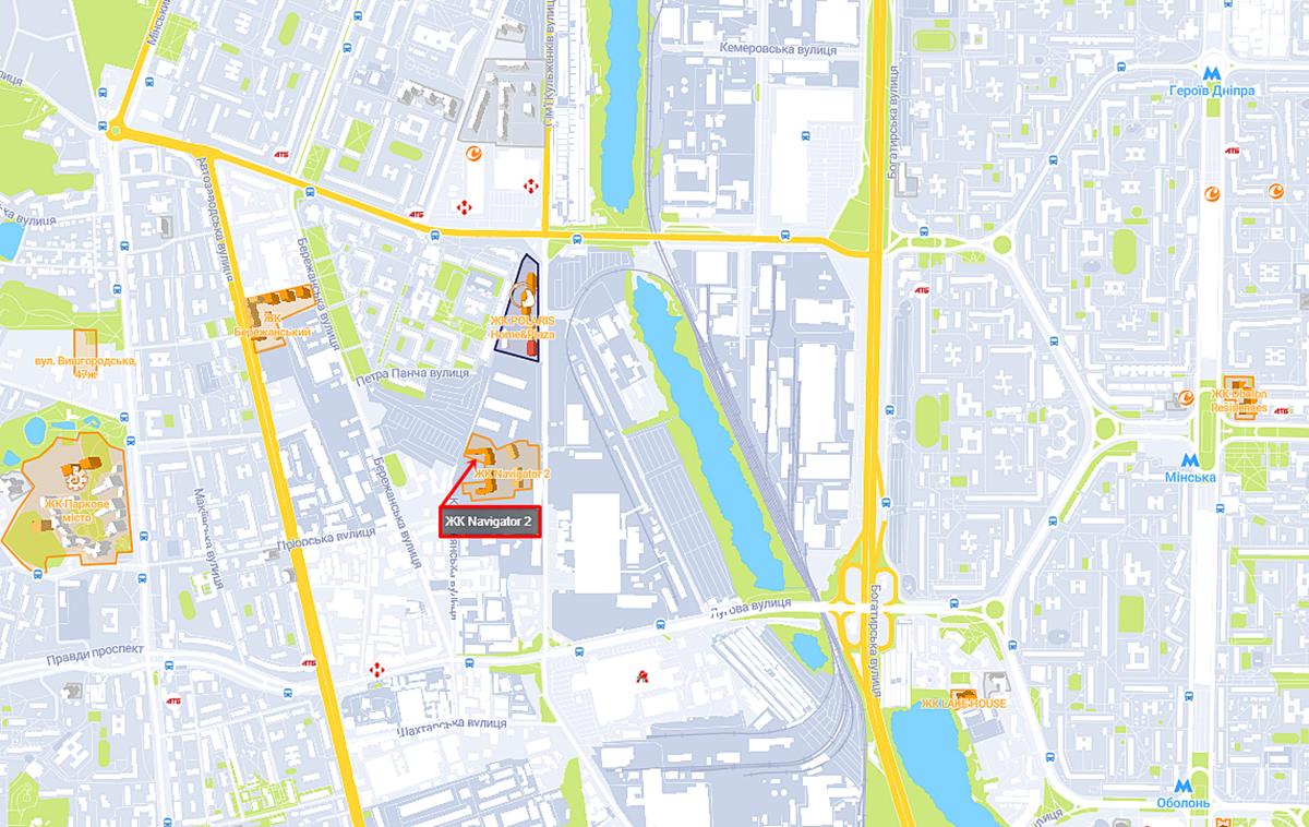 ЖК Navigator-2 на карте