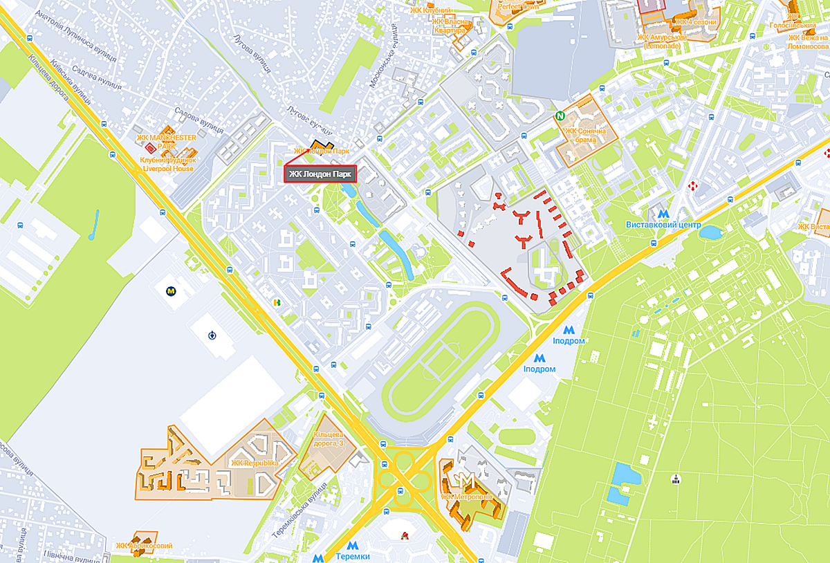 ЖК Лондон Парк на карте