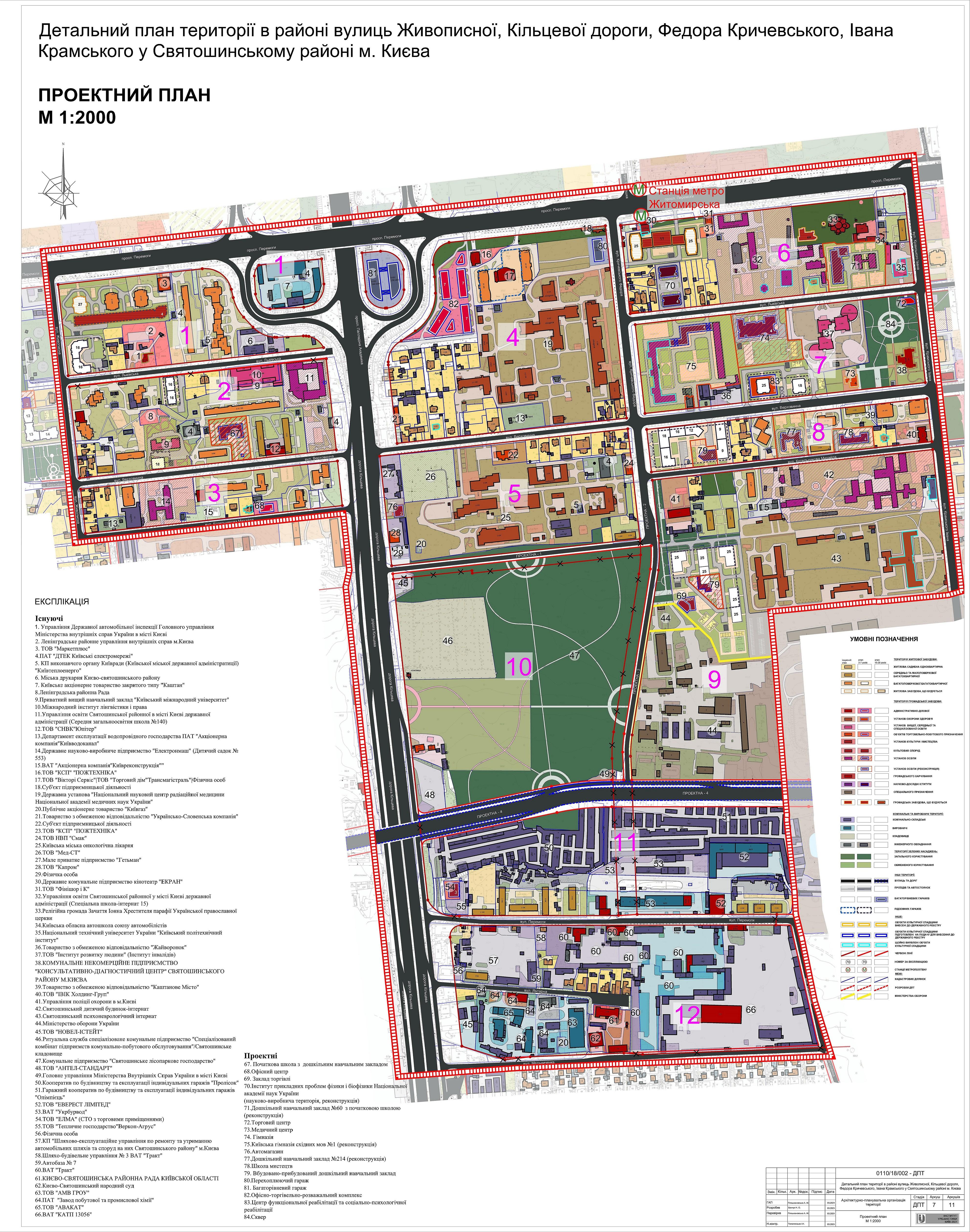 ДПТ микрорайон Святошино проектный план